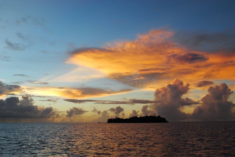 Sunset over Managaha Island stock photos