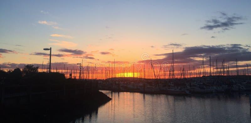 Sunset over the Marina stock photos
