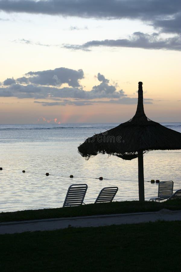 Sunset Over Mauritius Free Stock Image