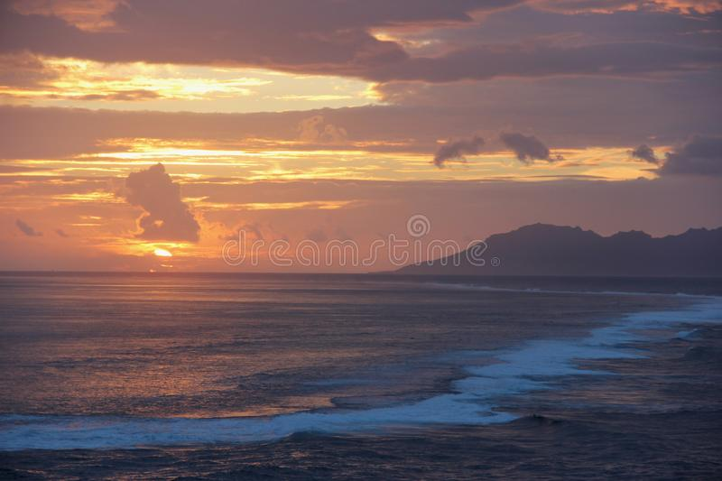 Sunset Over Moorea Stock Photos