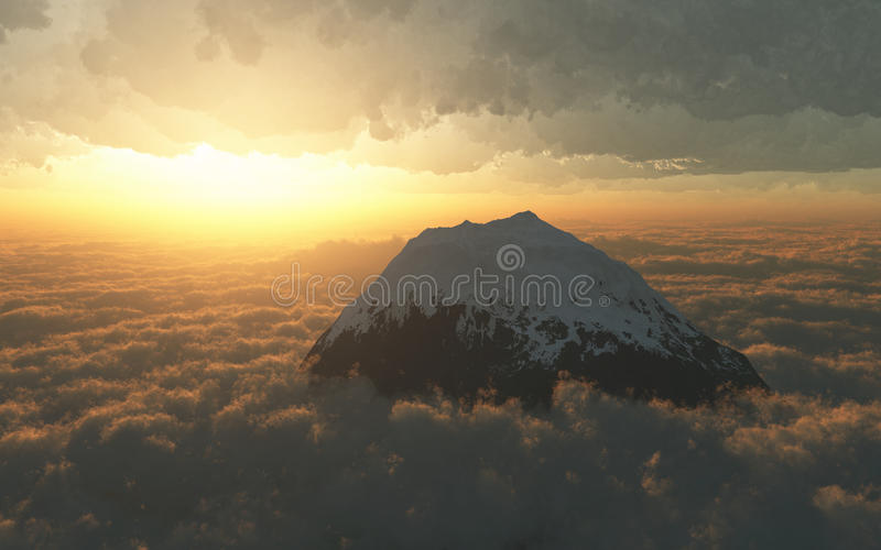 Download Sunset over mountains stock image. Image of mountain - 16936805