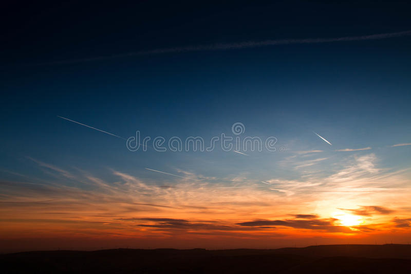 Sunset Over Northern England royalty free stock photo