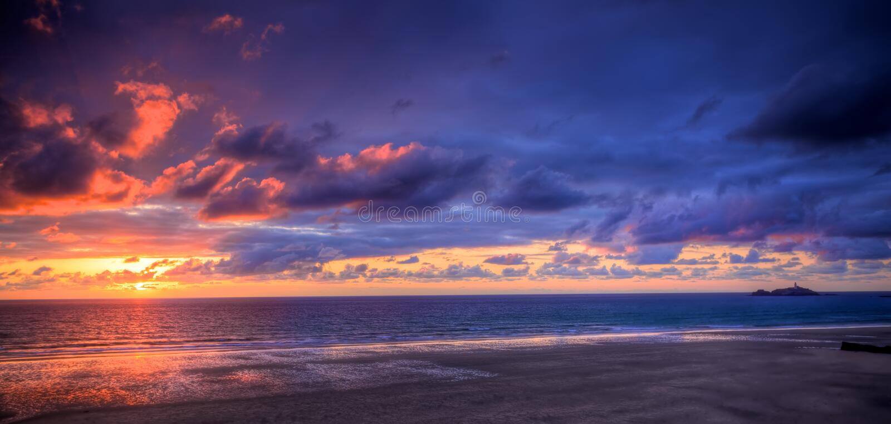 Download Sunset over ocean stock photo. Image of sunrise, atlantic - 14383628