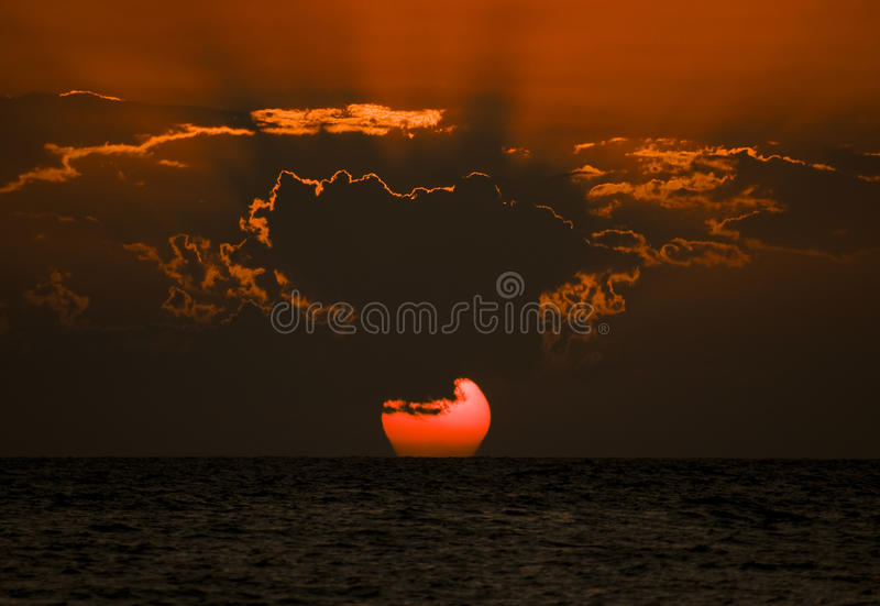 Download Sunset Over Ocean Stock Images - Image: 14878884