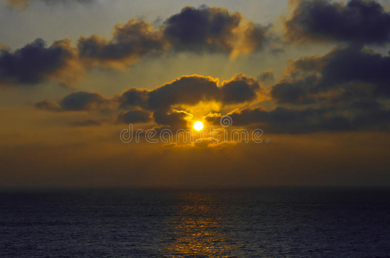 Download Sunset over the ocean stock photo. Image of clouds, horizon - 21447268