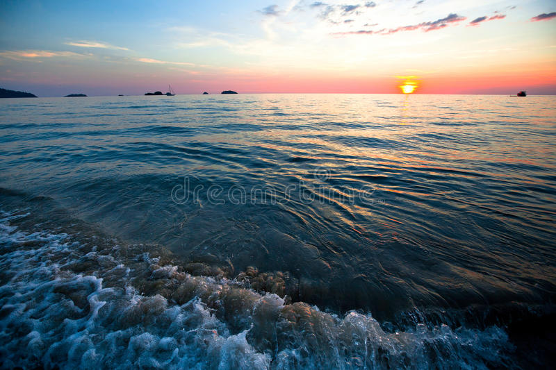 Download Sunset over ocean. stock image. Image of beach, cloud - 29025151