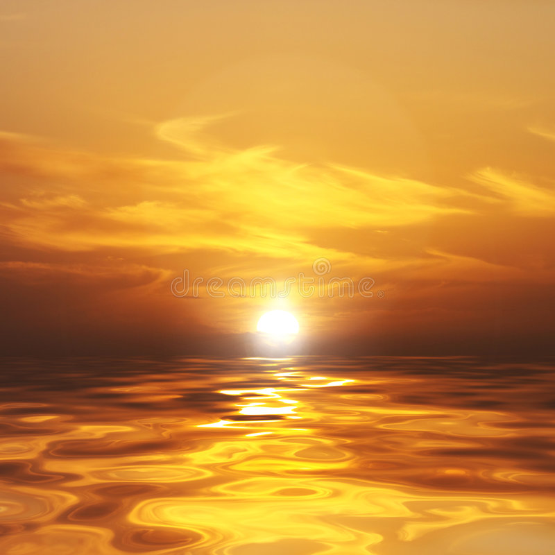 Download Sunset Over The Ocean Stock Photography - Image: 7636712