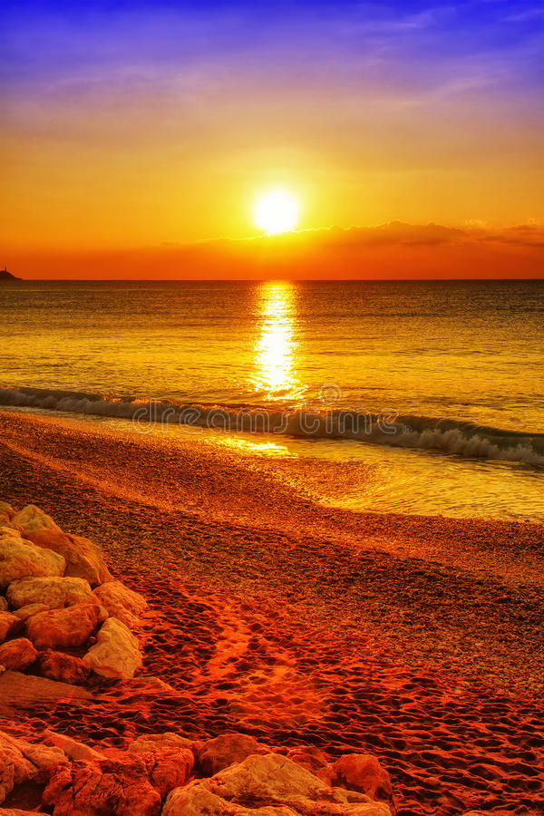 Download Sunset Over The Ocean Royalty Free Stock Images - Image: 31480769