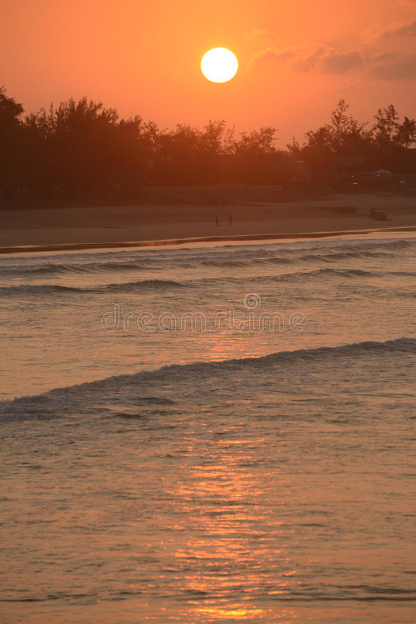Sunset over the ocean royalty free stock images