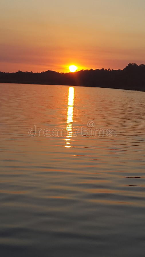 Sunset. Over the olifants river at olifants river safaris stock images
