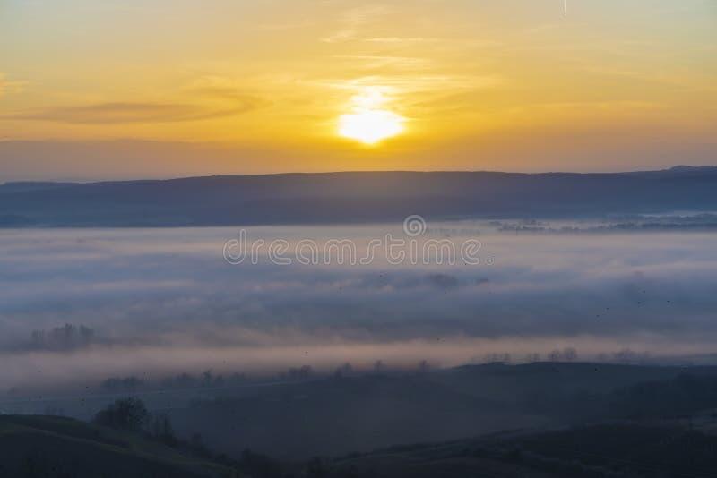 Sunset over Palava, Southern Moravia, Czech Republic stock photos