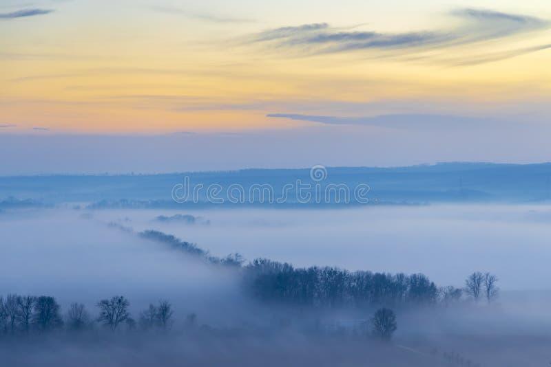 Sunset over Palava, Southern Moravia, Czech Republic royalty free stock photos