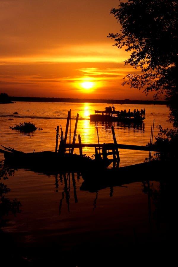 Sunset Over Perak River Editorial Stock Image