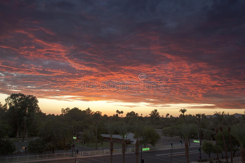 Download Sunset Over Phoenix Royalty Free Stock Photography - Image: 30299097