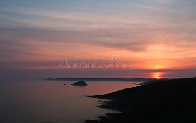 Download Sunset Over Rame Head Cornwall Stock Photo - Image: 12564184