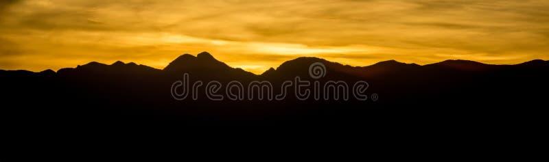 Sunset over red rock canyon near las vegas nevada stock image