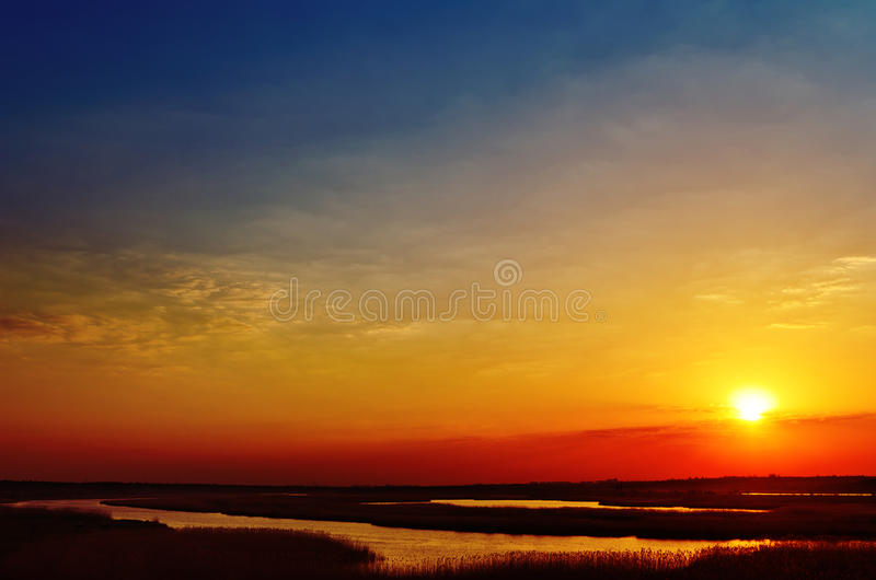 Download Sunset Over River Stock Photography - Image: 27165362
