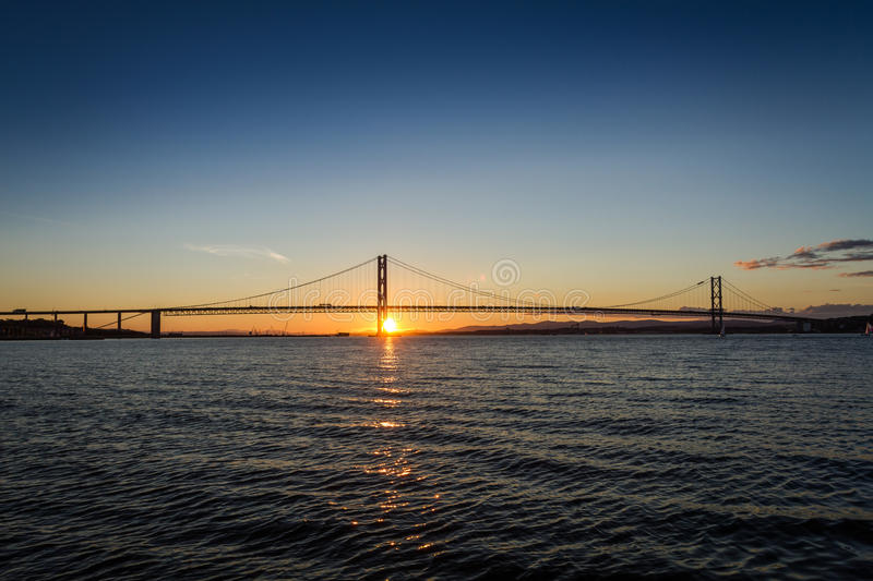 Download Sunset Over River In Queensferry Stock Image - Image: 26406561