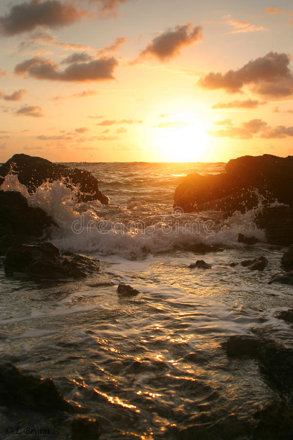 Download Sunset over rocky coast stock image. Image of outdoors - 10609415