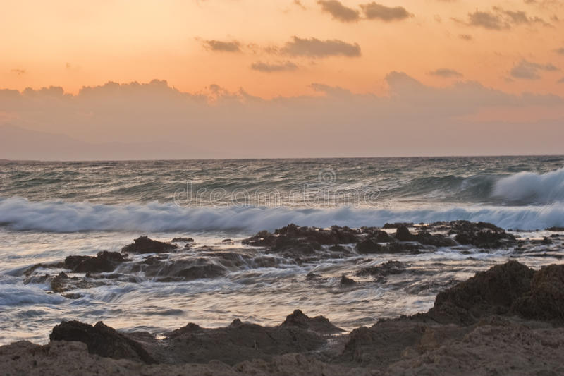 Download Sunset over rocky coast stock photo. Image of outdoor - 14787110