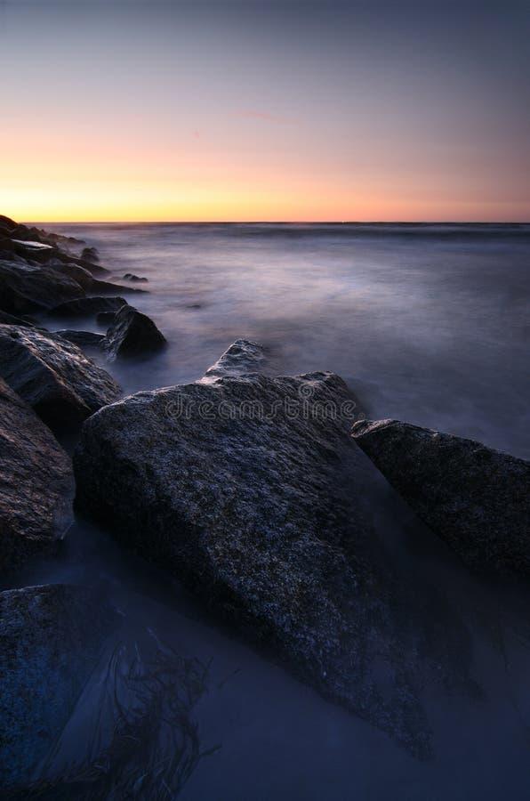 Download Sunset Over Rocky Coastline Stock Image - Image: 25429021