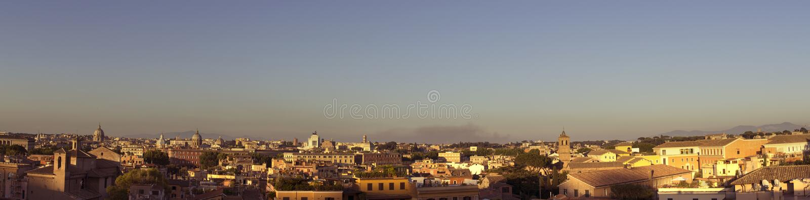 Download Sunset Over Rooftops In Rome Stock Image - Image: 25635991
