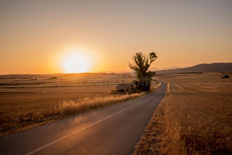 Sunset Over Rural Farmland Free Public Domain Cc0 Image