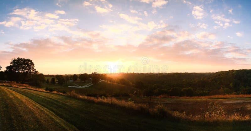 Sunset Over Rural Hillside Free Public Domain Cc0 Image