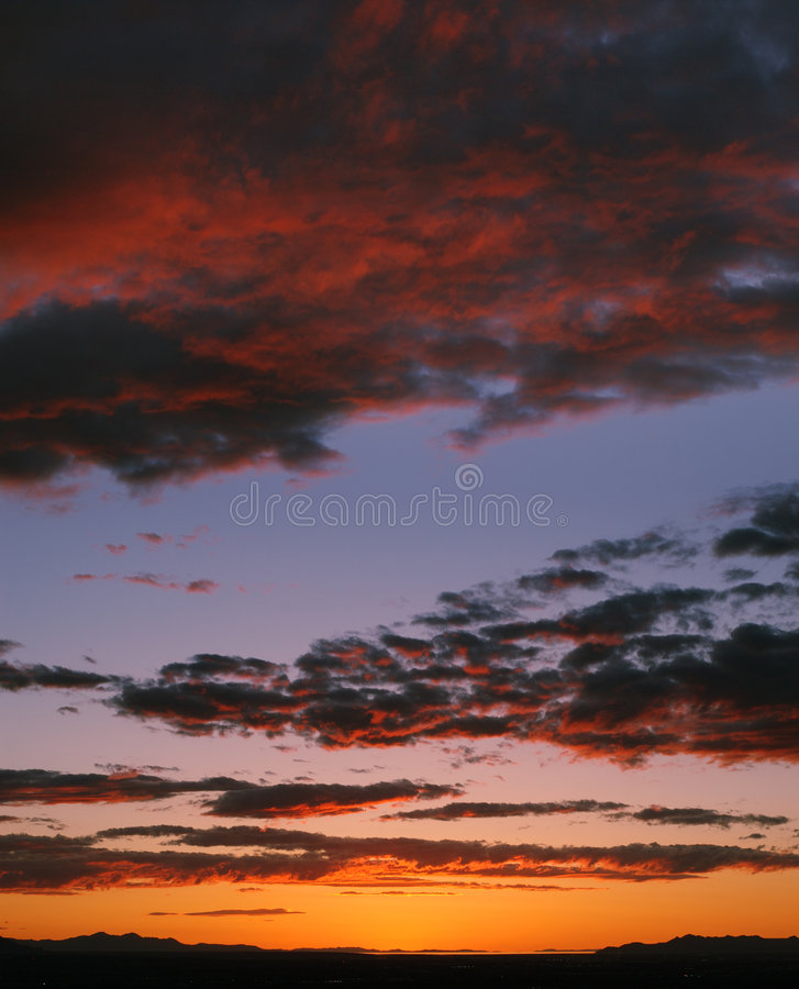 Sunset over Salt Lake Valley stock photo