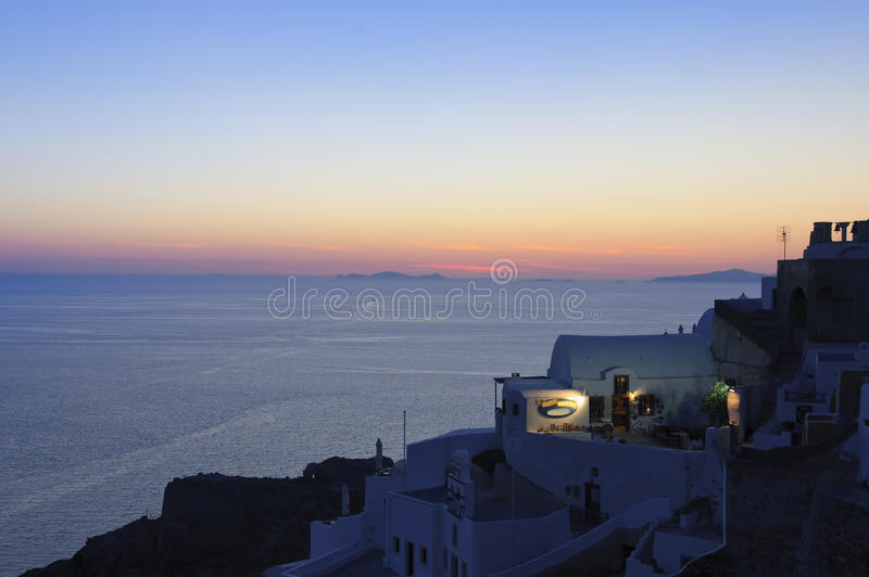 Download Sunset over Santorini, Oia stock image. Image of destinations - 20436721