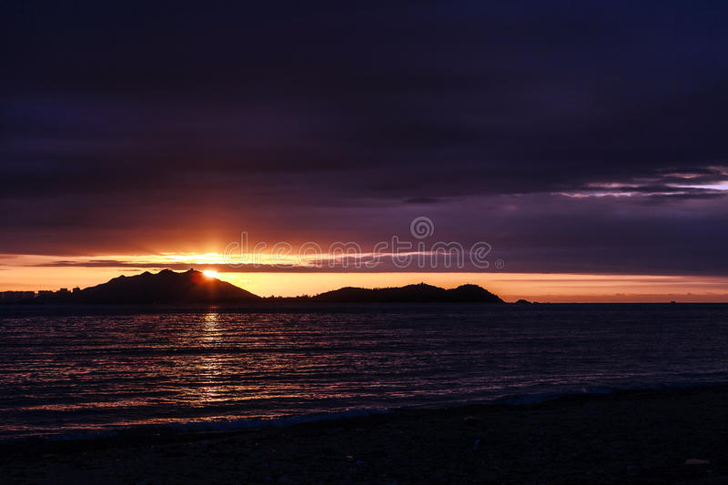 Sunset over SanYa royalty free stock images