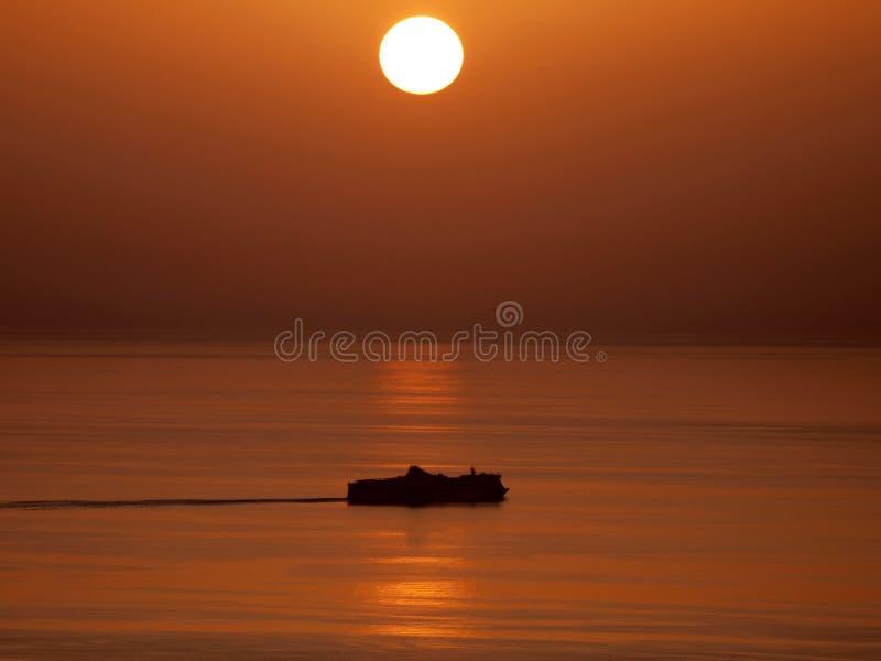 Download Sunset over sea stock image. Image of sunrise, sunset - 10748251