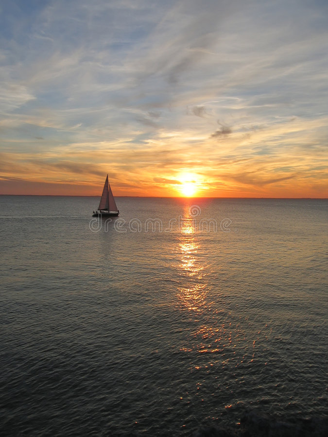 Download Sunset Over The Sea Stock Photo - Image: 2246430