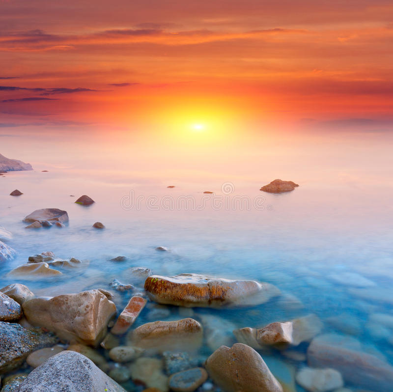 Free Sunset Over Sea Royalty Free Stock Image - 24896076