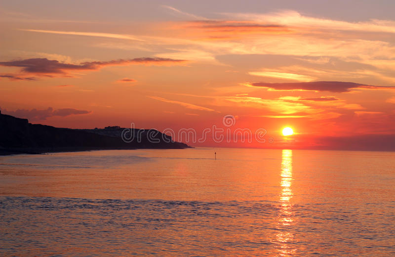 Sunset over the sea. royalty free stock photos