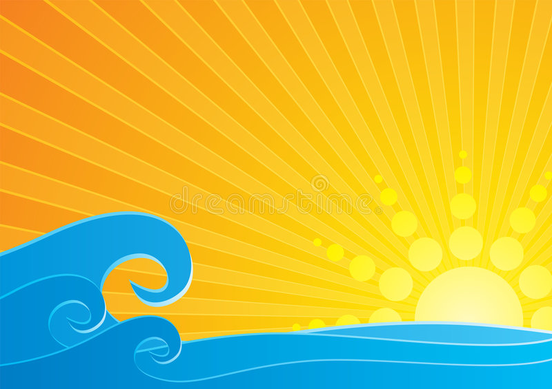 Download Sunset Over Sea Royalty Free Stock Photo - Image: 4894945