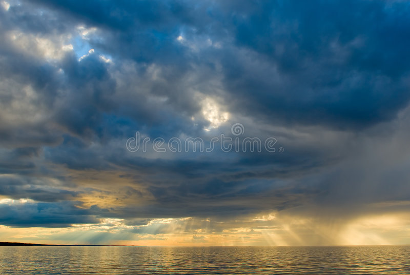 Download Sunset over the sea stock photo. Image of silence, moody - 5761732