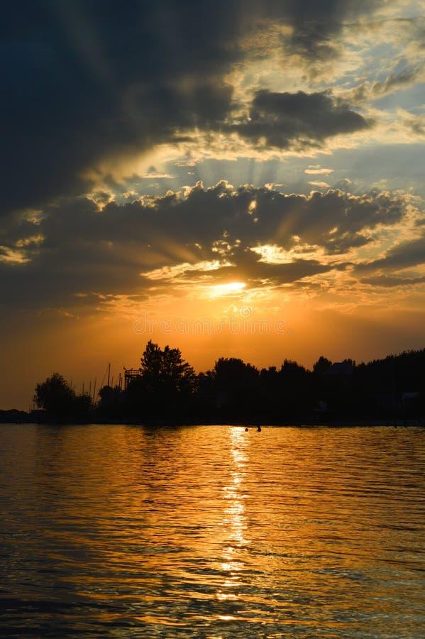 Sunset sea ocean stock image