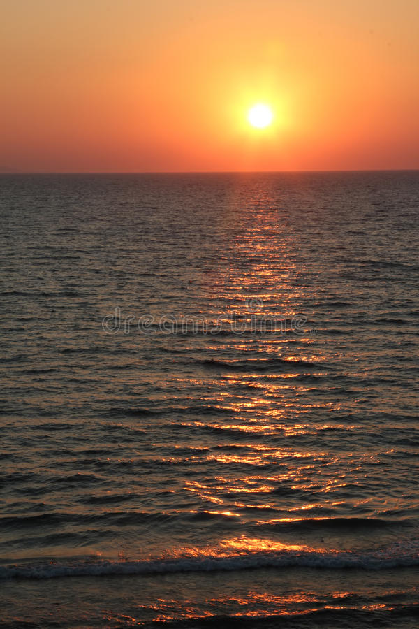 Download Sunset over the sea stock image. Image of dusk, outdoors - 41823777