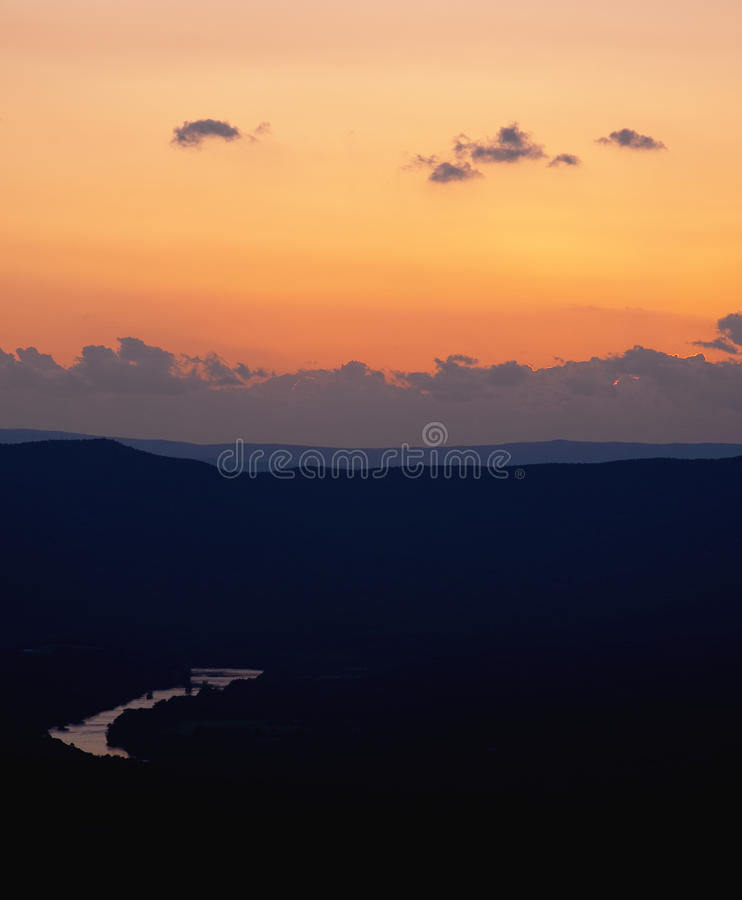 Download Sunset Over Shenandoah River Royalty Free Stock Photos - Image: 25556318