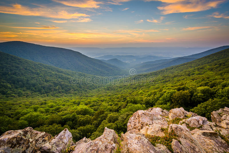 Sunset over the Shenandoah Valley and Blue Ridge Mountains from stock photos