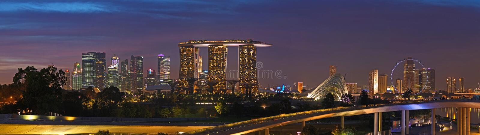 Sunset Over Singapore From Marina Barrage Editorial Stock ...