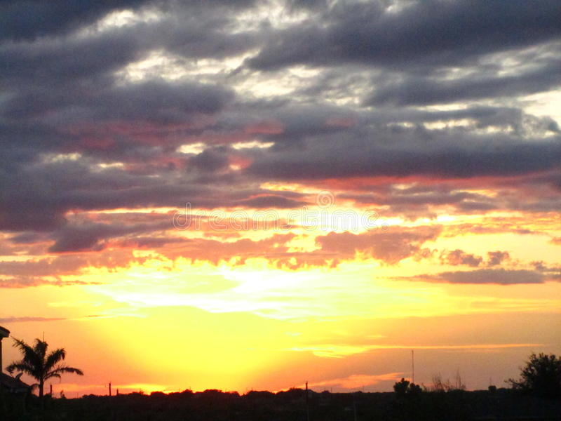 Sunset over South Texas stock photo