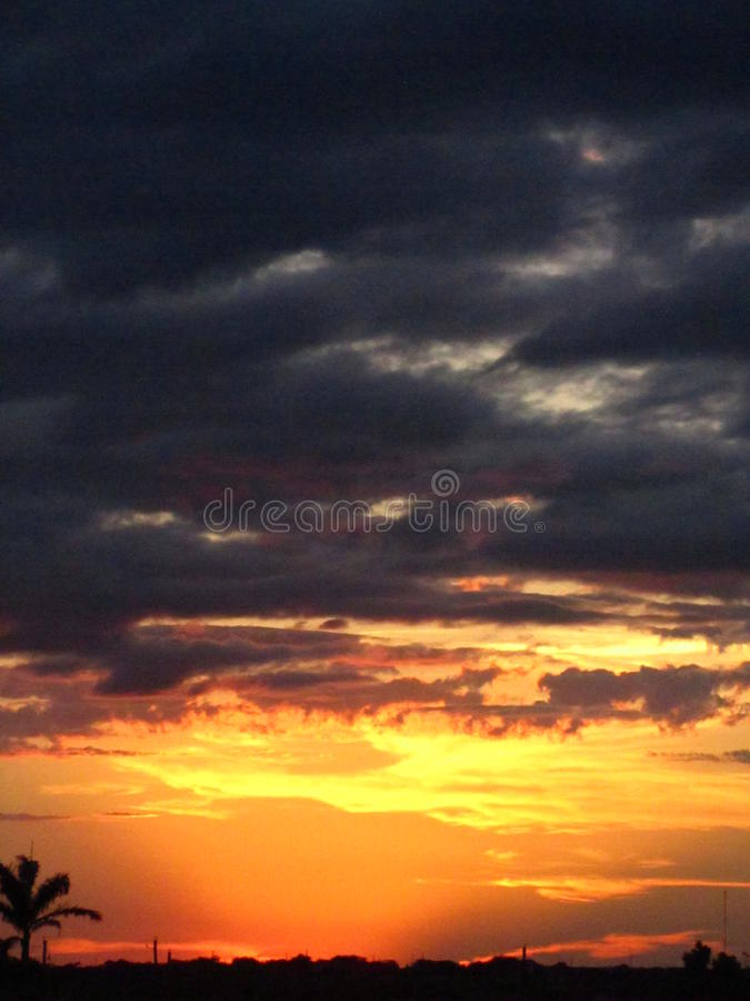 Sunset over South Texas stock images