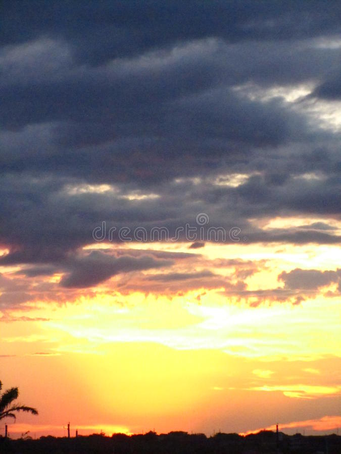 Sunset over South Texas royalty free stock photo