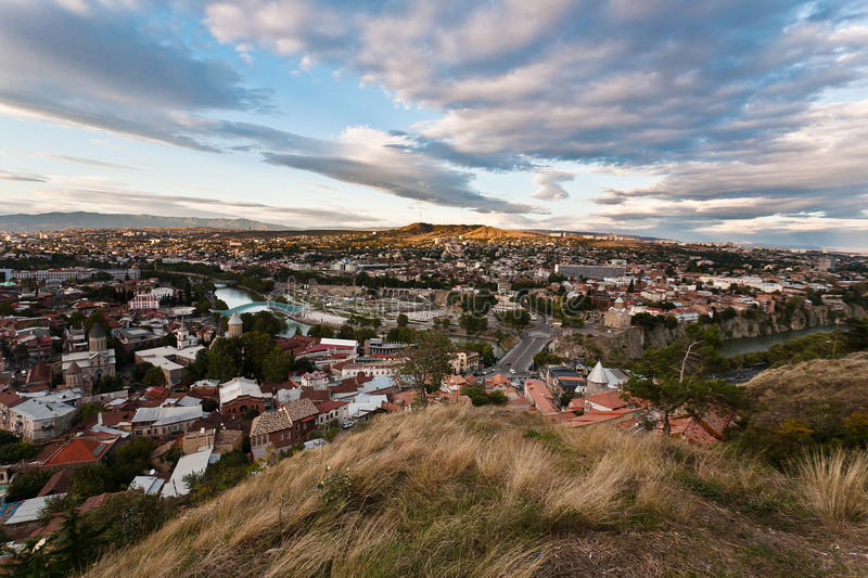Download Sunset over Tbilisi. stock photo. Image of georgian, daytime - 27551706