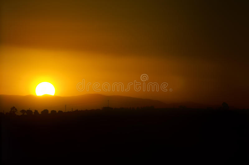 Download Sunset Over Village Royalty Free Stock Photos - Image: 33535058