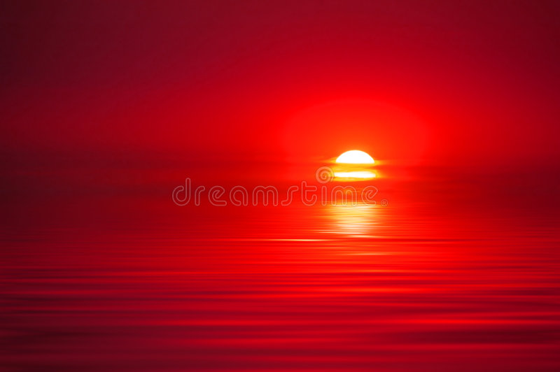 Sunset Over Water stock image