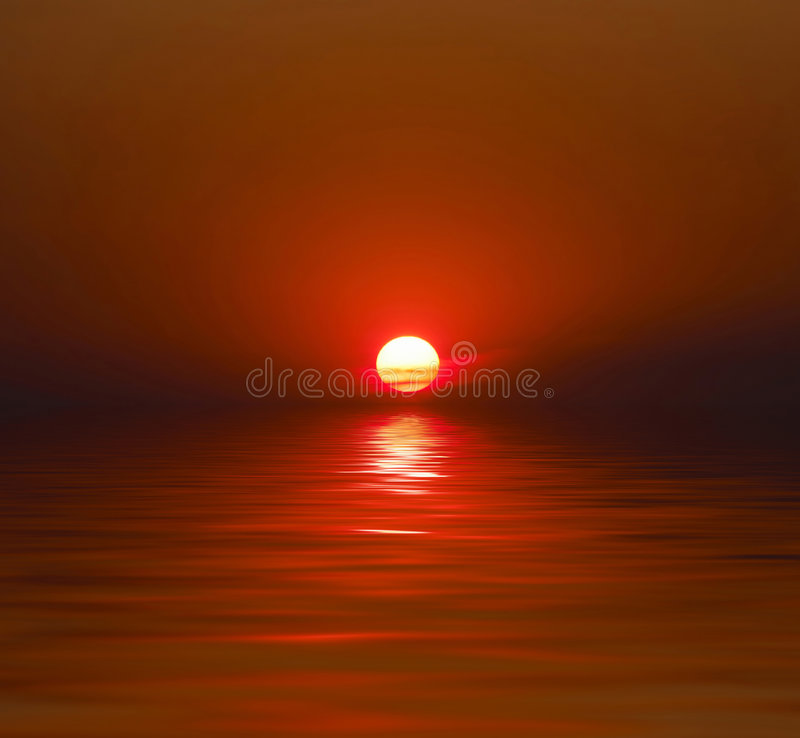 Free Sunset Over Water Royalty Free Stock Photography - 6063267