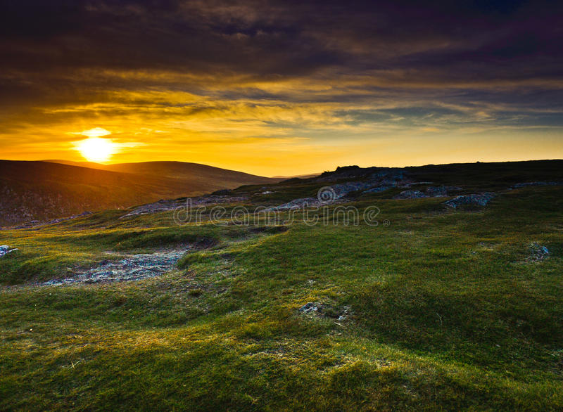 Download Sunset Over Wicklow Mountains, Ireland Royalty Free Stock Photography - Image: 23379567